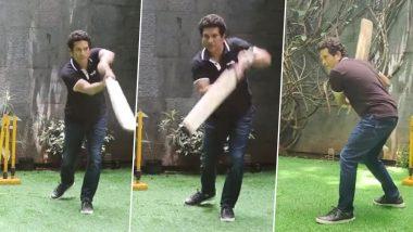 IPL 2021: एमआई और सीएसके मुकाबले से पहले बल्लेबाजी में हाथ आजमाते नजर आए Sachin Tendulkar, देखें वीडियो