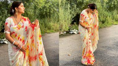 Sapna Choudhary Photos: साड़ी पहनकर सपना चौधरी ने बीच सड़क पर दिखाया हॉट अवतार, तस्वीरें देख रह जाएंगे हैरान