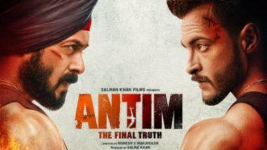 Salman Khan ने दिया अपने फैन्स को तोहफा, फिल्म 'अंतिम' का पहला पोस्टर किया रिलीज