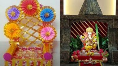 Ganesh Chaturthi 2021 Makhar Decoration Ideas: गणेश चतुर्थी के लिए अपने हाथों से बनाएं इको-फ्रेंडली मखर, देखें गणेशोत्सव डेकोरेशन वीडियो