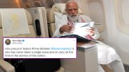 प्रधानमंत्री मोदी ने अमेरिका जाने के रास्ते से अपने विमान के भीतर की तस्वीर साझा की