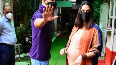 नेहा धूपिया के घर जल्द आने वाली है खुश खबरी, पति अंगद बेदी के साथ मुंबई में हुई स्पॉट