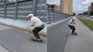Viral Video: स्केटिंग का लुत्फ उठाते बुजुर्ग का वीडियो हुआ वायरल, 73 साल की उम्र में उनके कारनामे देख उड़े लोगों के होश