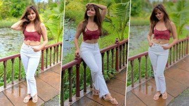 टीवी की बहु Rubina Dilaik ने दिखाया अपना हॉट अवतार, मैरून ब्रा में शेयर की Bold Photos