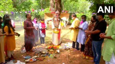 Ganeshotsav 2021: ओडिशा में पेड़ को गणपति बाप्पा बनाकर लोगों ने की पूजा-अर्चना, लोगों को दिया ये खास संदेश (See Pics)