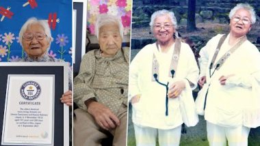 जापान की जुड़वा बहनों ने 107 साल की उम्र में बनाया गिनीज वर्ल्ड रिकॉर्ड, बनी दुनिया की सबसे बुजुर्ग ट्विन सिस्टर्स, देखें तस्वीरें