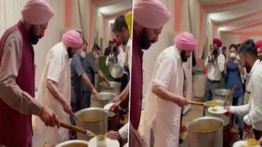 Punjab: सीएम अमरिंदर सिंह ने टोक्यो ओलंपिक में पदक जीतने वाले खिलाड़ियों को अपने हाथों से परोसा खाना- देखें वीडियो
