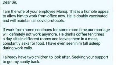 Viral Letter: हर्ष गोयनका ने शेयर किया अपने कर्मचारी की पत्नी का रिक्वेस्ट लेटर, महिला ने किया मजेदार अनुरोध, पढ़ें पूरा पत्र