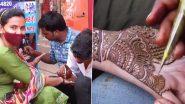 Karwa Chauth 2021 Mehendi: त्योहार से एक दिन पहले गुरुग्राम में मेहंदी के लिए महिलाओं की दिखी भीड़ (See Pics)