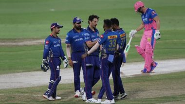 IPL 2021, MI vs RR: राजस्थान रॉयल्स के बल्लेबाजों ने मुंबई इंडियंस के गेंदबाजों के सामने टेके घुटने, एमआई को जीत के लिए मिला 91 रनों का लक्ष्य