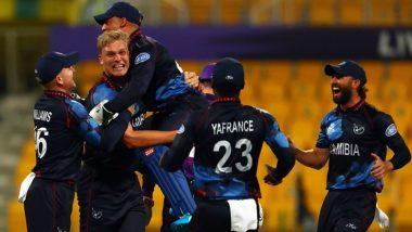 ICC T20 World Cup 2021: रोमांचक मुकाबले में नामीबिया ने स्कॉटलैंड को चार विकेट से हराया, रुबेन ट्रंपलमैन-जेन फ्राइलिंक चमके