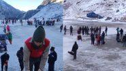 Char Dham Yatra: उत्तराखंड में बर्फबारी के बीच फिर शुरु हुई चार-धाम यात्रा, रास्ते से बर्फ हटाने में जुटा प्रशासन