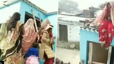 Viral Video: गुस्से में दुल्हन चढ़ गई छत पर, कोई उसे उतार न सके इसलिए फेंकी सीढ़ी, देखें फनी वीडियो