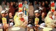 कश्मीरी शादी की रस्म के हिस्से के रूप में नवविवाहित दूल्हा और दुल्हन ने एक साथ बनाई रोटी, देखें वीडियो